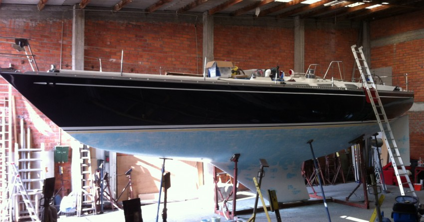 Onderwaterschip in epoxy